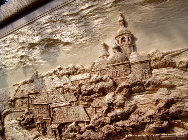 Виктор Дубовик.Резная картина из дерева. Пятнадцатая