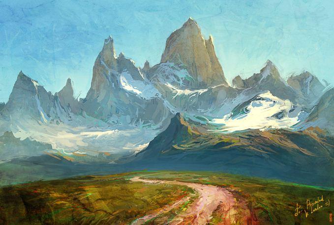 Артём Чебоха. Rhads. Цифровое искусство. FitzRoy Mountain