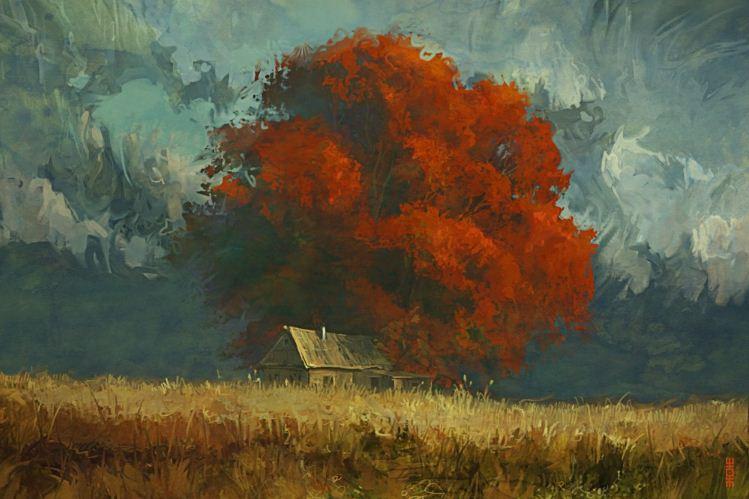 Артём Чебоха. Rhads. Цифровое искусство. Tree of loneliness