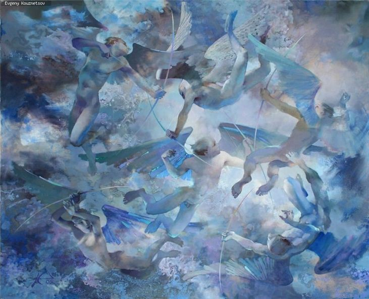 Евгений Кузнецов. Абстракция в живописи. Атмосфера любви. Холст масло