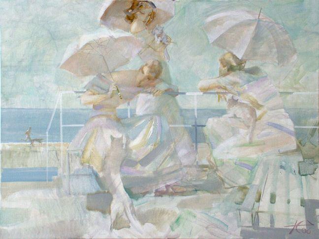 Евгений Кузнецов. Абстракция в живописи. Белые и пушистые. 77х102. холст масло