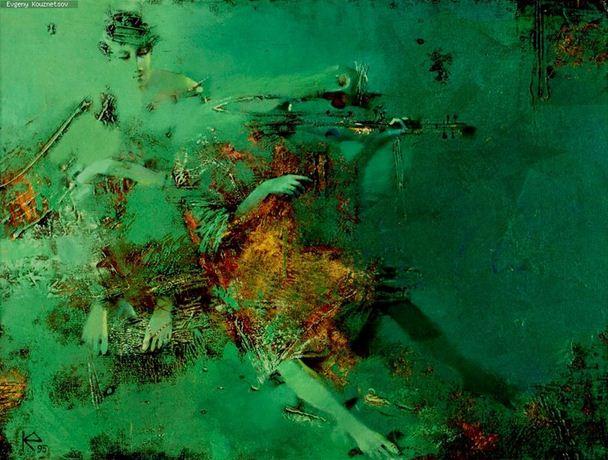 Евгений Кузнецов. Абстракция в живописи. Без нот. Холст масло