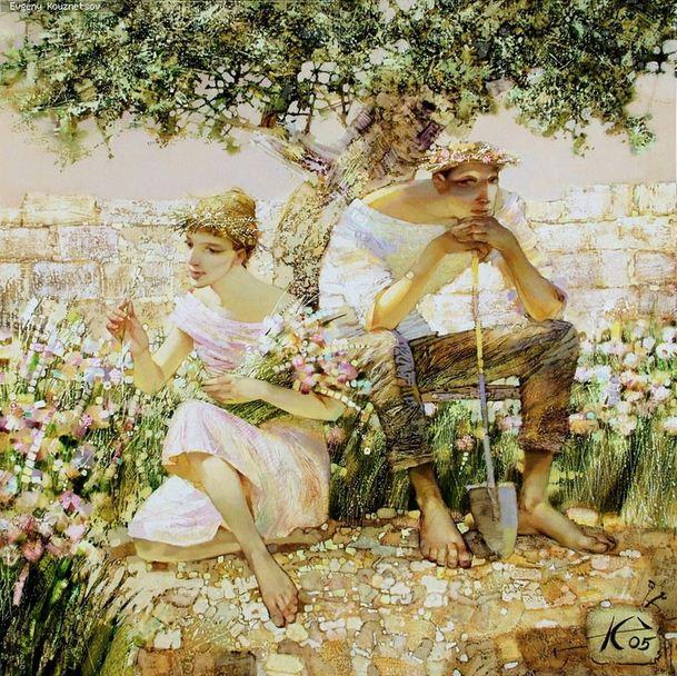 Евгений Кузнецов. Абстракция в живописи. Добрый садовник. Холст масло