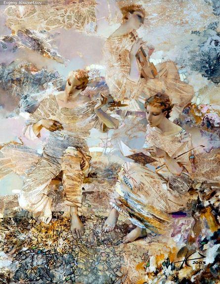 Евгений Кузнецов. Абстракция в живописи. Компоненты. Холст масло