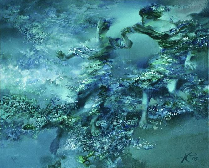 Евгений Кузнецов. Абстракция в живописи. Шаг. 65х80. холст масло