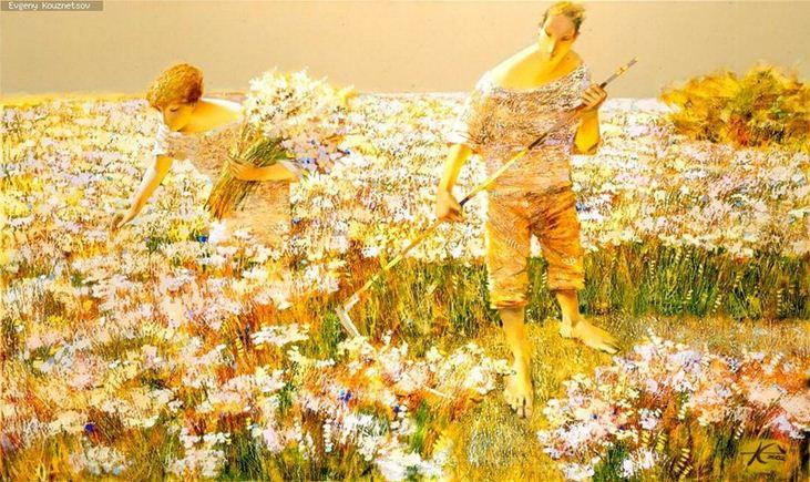 Евгений Кузнецов. Абстракция в живописи. Цветы и травы. Холст масло