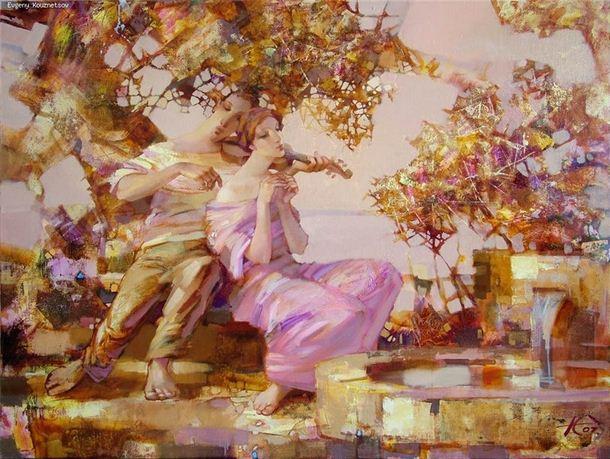 Евгений Кузнецов. Абстракция в живописи. Трогательная мелодия. Холст масло