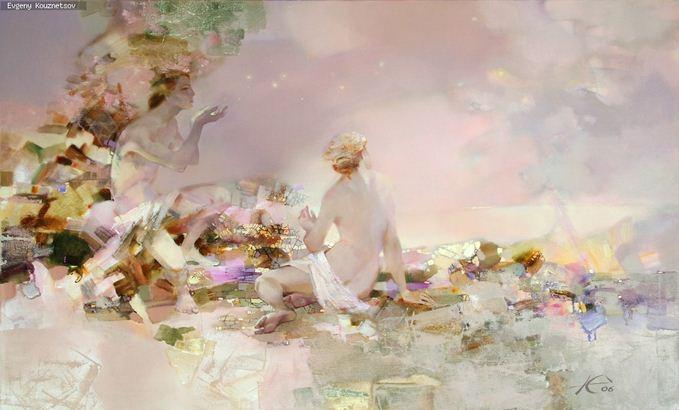 Евгений Кузнецов. Абстракция в живописи. Утренние звезды. Холст масло