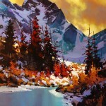 Michael O'Toole. Акриловая живопись. Alpine Water. Акрил. 36х36 дюймов
