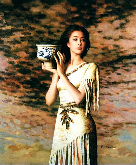 Xie Chuyu. Китайский портрет. Against the light