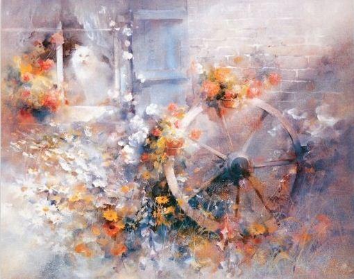 Willem Haenraets. Воздушная живопись. Floral Cottage