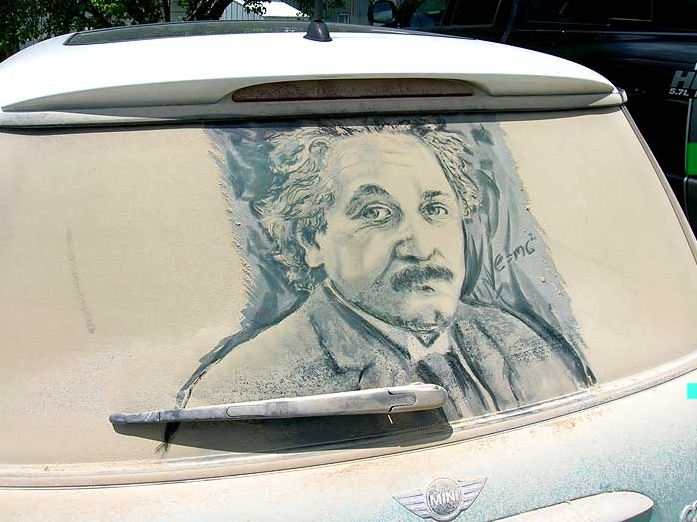 Scott Wade. Рисунки на грязных машинах. Uncle Albert