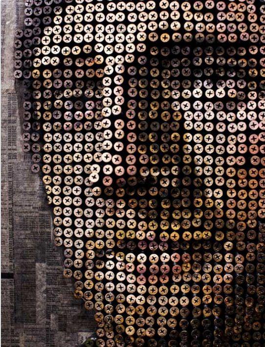 Andrew Myers. Необычные картины из шурупов. Четвертая. Фрагмент