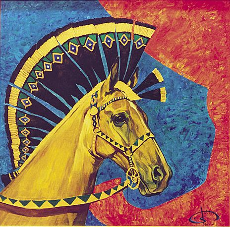 Fattah Hallah Abdel. Египетские картины. Гамиль. 100х100. Холст масло