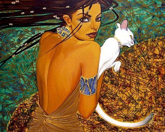 Fattah Hallah Abdel. Египетские картины. Картина вторая. Холст масло