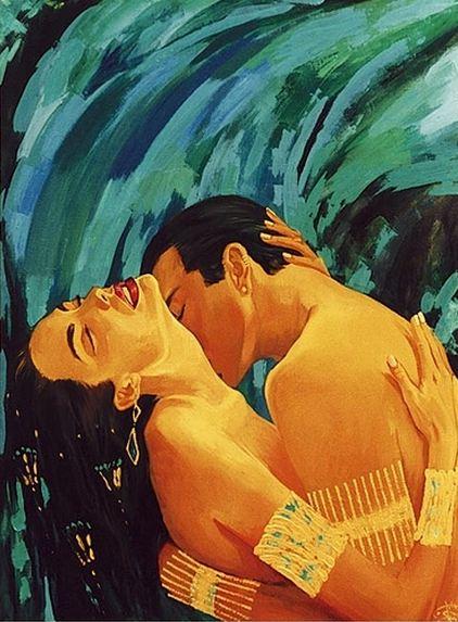 Fattah Hallah Abdel. Египетские картины. Водопад любви. 100х120. Холст масло