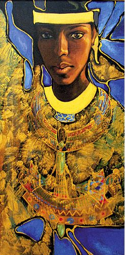 Fattah Hallah Abdel. Египетские картины. Взгляд из вечности. 60х100. Холст масло
