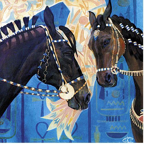 Fattah Hallah Abdel. Египетские картины. Взгляд любви. 100х100. Холст масло