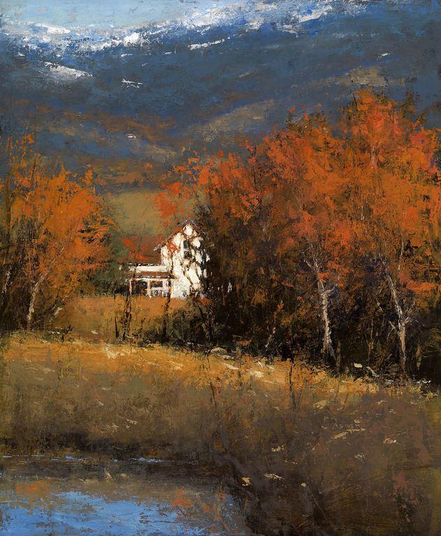 Romona Youngquist. Американский пейзаж в живописи. Feel осени. 24х20 дюймов. Масло