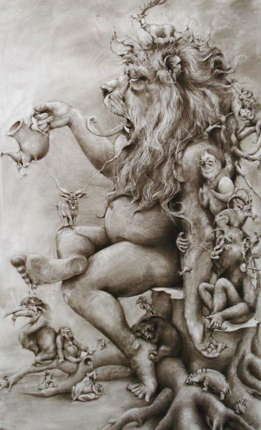 ArtPrize 2012. Adonna Khare и ее большие рисунки. Другой рисунок