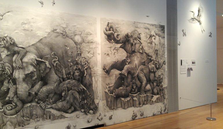 ArtPrize 2012. Adonna Khare и ее большие рисунки. Слоны. Фрагмент десятый