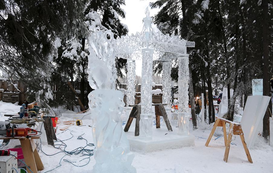 IceAlaska 2013. 3 место в категории Абстракция. Water And Fire в процессе создания