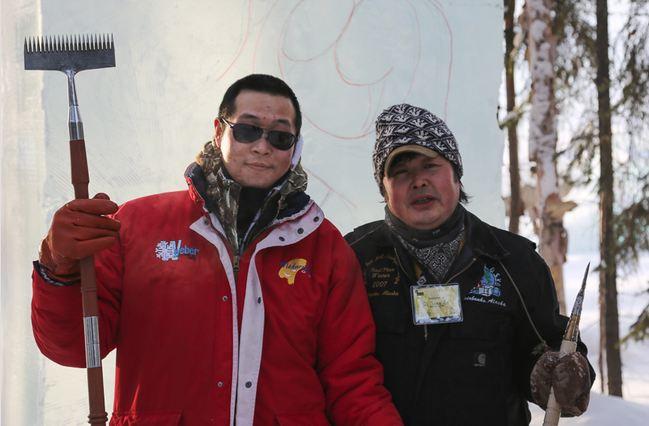 IceAlaska 2013. An Qi Feng и An Di. Китай