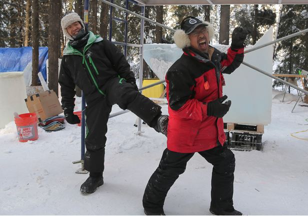 IceAlaska 2013. Nakamura Junichi и Okamoto Shintaro. Япония и США