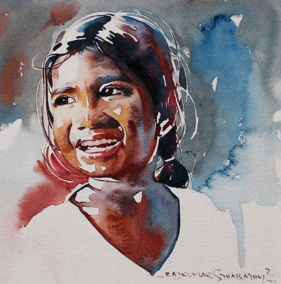 Индийский художник Rajkumar Sthabathy. Акварель двадцать четвертая