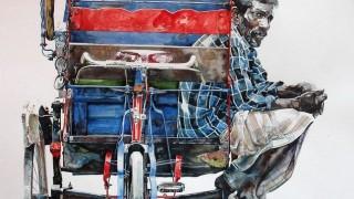 Индийский художник Rajkumar Sthabathy. Акварель шестая