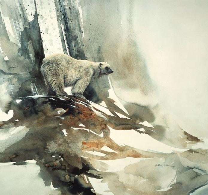 Morten E. Solberg. Животные акварелью. Белый медведь