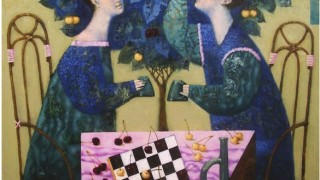 Павел Антипов и его философские картины. Игроки. 85х90 Холст, масло 2006