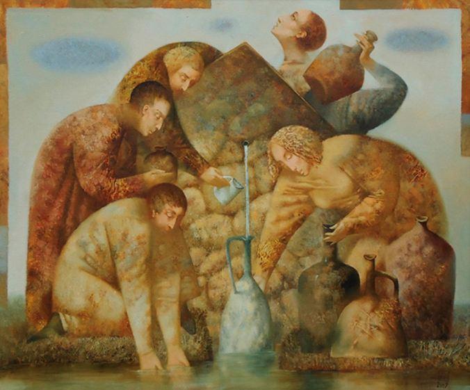 Павел Антипов и его философские картины. Источник. 100х120. Холст, масло 2009