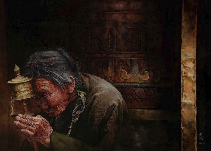 IWS 2012. 8 место. Jiao Liqiang. Praying. 112×80
