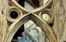 Архитектор-акварелист Paul Dmoch. Arc Ciseaux, Cathdrale de Wells