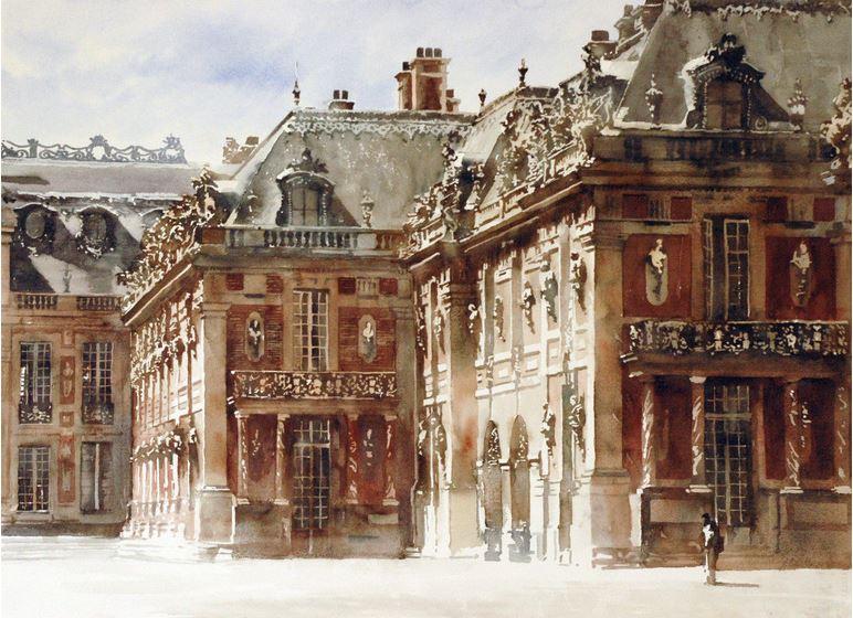 Архитектор-акварелист Paul Dmoch. Château de Versailles