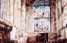 Архитектор-акварелист Paul Dmoch. Choeur, King's College Chapel, Cambridge