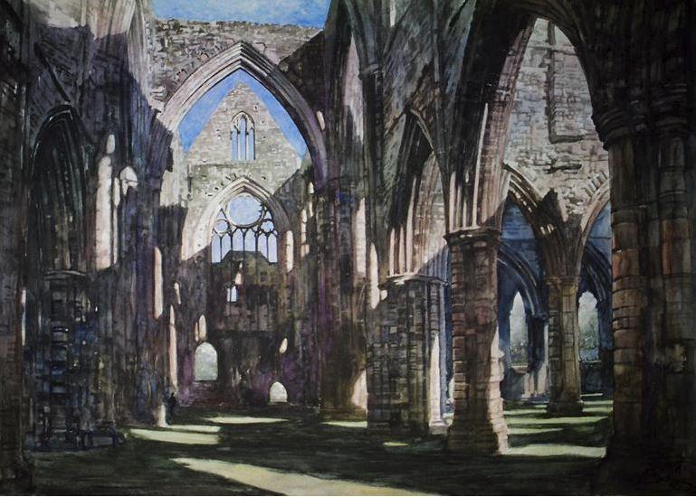Архитектор-акварелист Paul Dmoch. Tintern Abbey