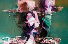 Валерий Блохин. Яркая живопись на грани абстракции. Вьетнам. Рыбаки. 105х90 холст масло