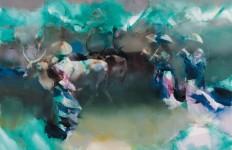 Валерий Блохин. Яркая живопись на грани абстракции. Время цветения саккуры. 90х105 холст масло