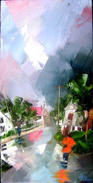 Канадский художник Albini Leblanc. Миниатюры мастихином. Двенадцатая