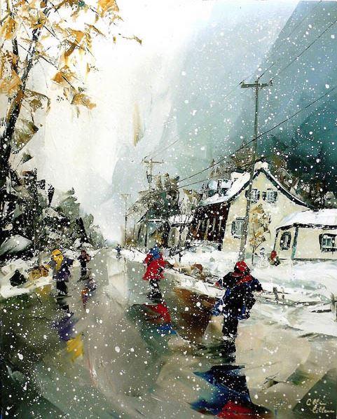 Канадский художник Albini Leblanc. Миниатюры мастихином. Седьмая
