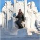 Снежная скульптура. Трон для фотосессий