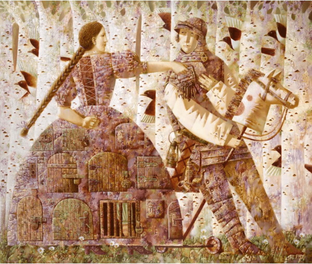 Анна Березовская. Ключи верности 110х130 х.м.
