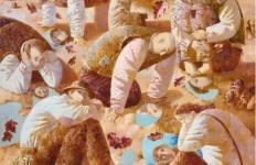 Анна Березовская. Нарциссы. 110х110 х.м.