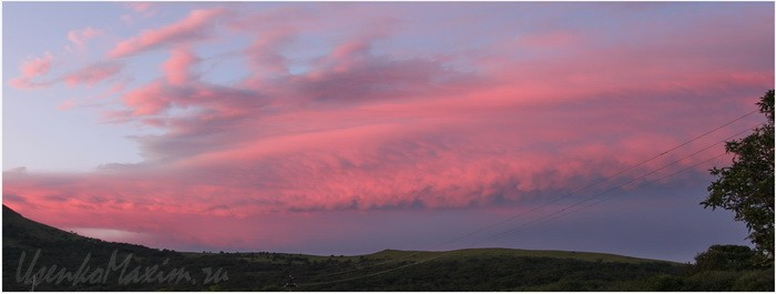 Бухта Витязь. Краски вечернего неба