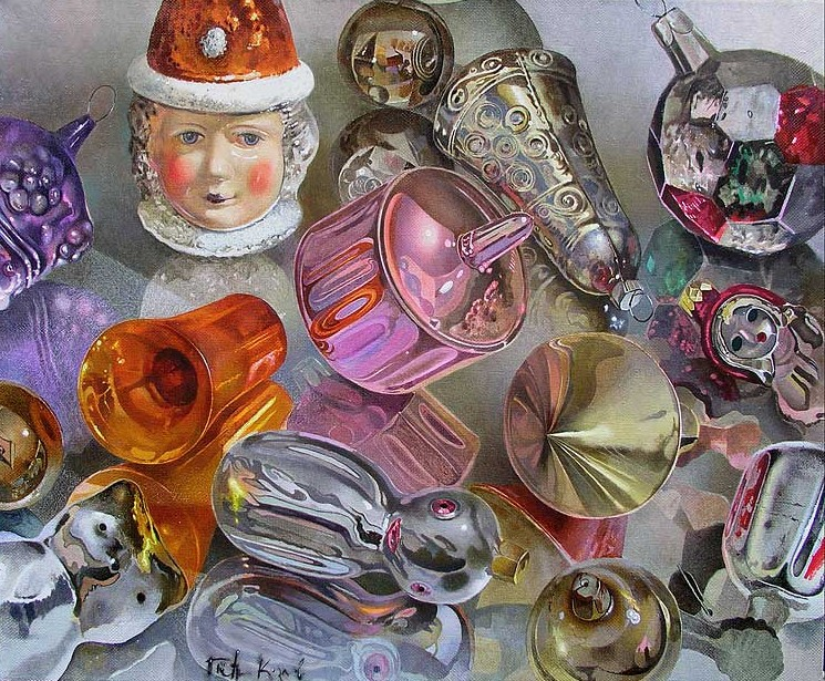 Козлов Петр. Старые игрушки. 40х50 холст масло