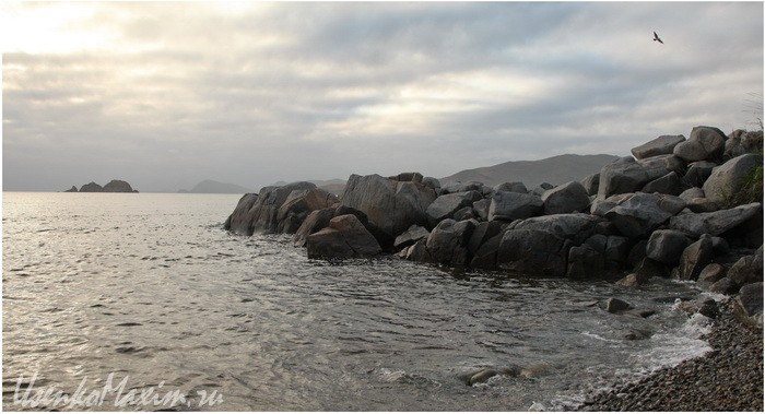 Полуостров Гамова. Вдали расположены острова Таранцева