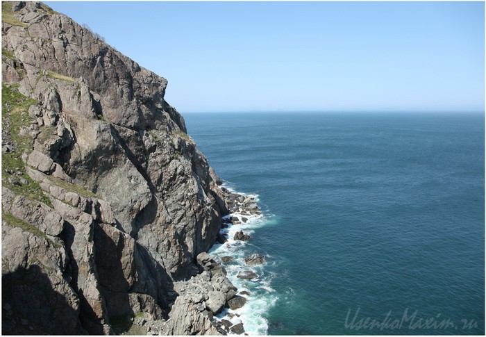 Самая высокая часть берега на полуострове Гамова