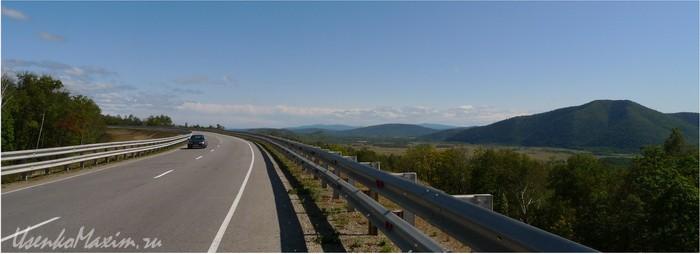 Федеральная трасса Амур. Несколько км. до п.Теплоозерск